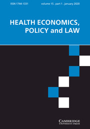 Health Economics, Policy and Law Volume 15 - Issue 1 -