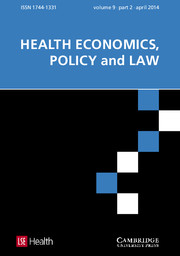 Health Economics, Policy and Law Volume 9 - Issue 2 -