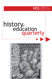 History of Education Quarterly Volume 57 - Issue 1 -