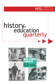 History of Education Quarterly Volume 57 - Issue 4 -