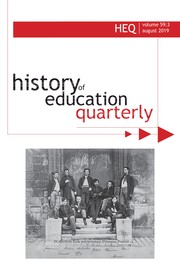 History of Education Quarterly Volume 59 - Issue 3 -