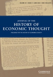 Journal of the History of Economic Thought