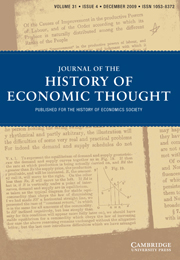Journal of the History of Economic Thought Volume 31 - Issue 4 -