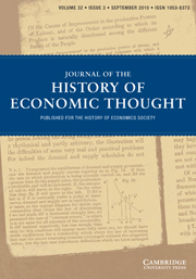 Journal of the History of Economic Thought Volume 32 - Issue 3 -