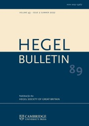 Hegel Bulletin