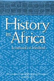 History in Africa Volume 40 - Issue 1 -