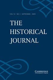 The Historical Journal Volume 52 - Issue 3 -