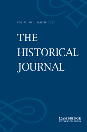 The Historical Journal Volume 55 - Issue 1 -