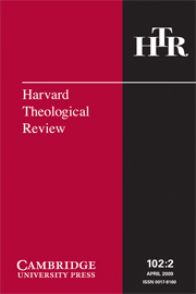 Harvard Theological Review Volume 102 - Issue 2 -