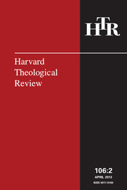 Harvard Theological Review Volume 106 - Issue 2 -