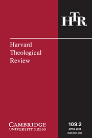Harvard Theological Review Volume 109 - Issue 2 -