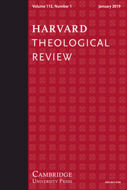Harvard Theological Review Volume 112 - Issue 1 -