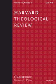 Harvard Theological Review Volume 112 - Issue 2 -