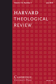 Harvard Theological Review Volume 112 - Issue 3 -
