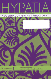 Hypatia Volume 26 - Issue 3 -  Special Issue: Ethics of Embodiment