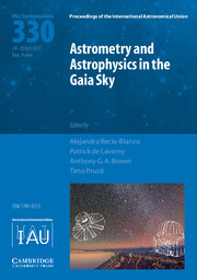Proceedings of the International Astronomical Union Volume 12 - SymposiumS330 -  Astrometry and Astrophysics in the Gaia sky