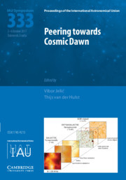 Proceedings of the International Astronomical Union Volume 12 - SymposiumS333 -  Peering towards Cosmic Dawn