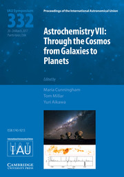 Proceedings of the International Astronomical Union Volume 13 - SymposiumS332 -  Astrochemistry VII: Through the Cosmos from Galaxies to Planets