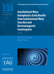 Proceedings of the International Astronomical Union Volume 13 - SymposiumS338 -  Gravitational Wave Astrophysics: Early Results from Gravitational Wave Searches and Electromagnetic Counterparts