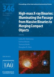 Proceedings of the International Astronomical Union Volume 14 - SymposiumS346 -  High-mass X-ray Binaries: Illuminating the Passage from Massive Binaries to Merging Compact Objects
