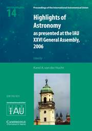 Proceedings of the International Astronomical Union Volume 2 - Issue 14 -  Highlights of Astronomy