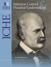 Infection Control & Hospital Epidemiology Volume 36 - Issue 10 -