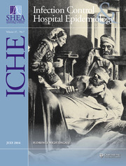 Infection Control & Hospital Epidemiology Volume 37 - Issue 7 -