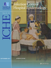 Infection Control & Hospital Epidemiology Volume 38 - Issue 9 -