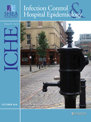 Infection Control & Hospital Epidemiology Volume 39 - Issue 10 -