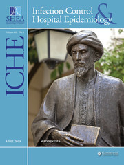 Infection Control & Hospital Epidemiology Volume 40 - Issue 4 -