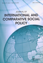 Journal of International and Comparative Social Policy Volume 31 - Issue 1 -