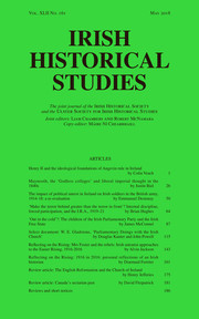 Irish Historical Studies Volume 42 - Issue 161 -