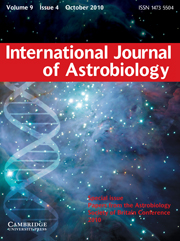 International Journal of Astrobiology Volume 9 - Issue 4 -  Special issue Papers from the Astrobiology Society of Britain Conference 2010
