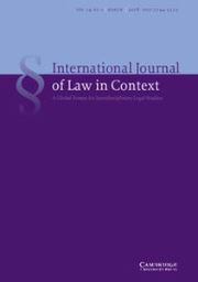 International  Journal of Law in Context Volume 14 - Issue 1 -