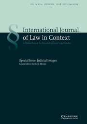 International  Journal of Law in Context Volume 14 - Special Issue4 -  Judicial Images