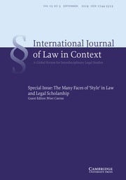 International  Journal of Law in Context Volume 15 - Special Issue3 -  The Many Faces of 'Style' in Law and Legal Scholarship