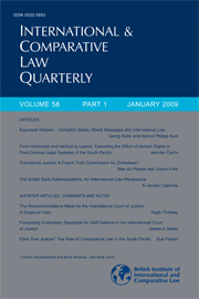International & Comparative Law Quarterly Volume 58 - Issue 1 -