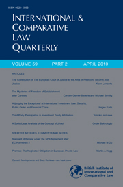 International & Comparative Law Quarterly Volume 59 - Issue 2 -
