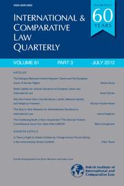 International & Comparative Law Quarterly Volume 61 - Issue 3 -
