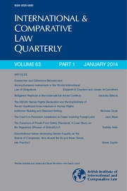 International & Comparative Law Quarterly Volume 63 - Issue 1 -
