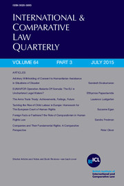 International & Comparative Law Quarterly Volume 64 - Issue 3 -