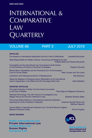 International & Comparative Law Quarterly Volume 68 - Issue 3 -