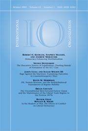 International Organization Volume 63 - Issue 1 -
