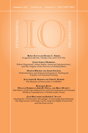 International Organization Volume 66 - Issue 3 -