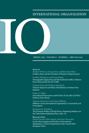 International Organization Volume 73 - Issue 2 -