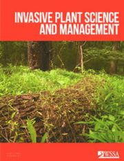 Invasive Plant Science and Management Volume 10 - Issue 1 -