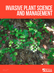 Invasive Plant Science and Management Volume 11 - Issue 2 -