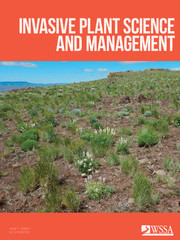 Invasive Plant Science and Management Volume 11 - Issue 3 -
