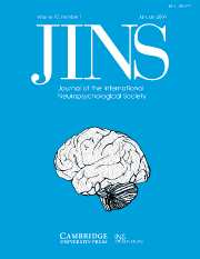 Journal of the International Neuropsychological Society Volume 10 - Issue 1 -