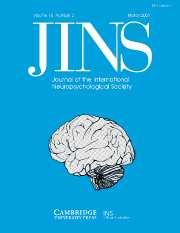 Journal of the International Neuropsychological Society Volume 10 - Issue 2 -
